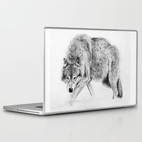 wolf Laptop & iPad Skins featuring Wolf by Anna Shell