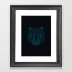 Polygon Bear Framed Art Print