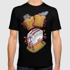 The ToasterBot Black MEDIUM Mens Fitted Tee