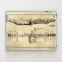 George Washington Bridge Construction Blueprint Laptop & iPad Skin