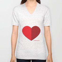 Beautiful Economics Heart Unisex V-Neck