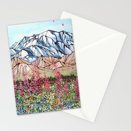 Denali Fireweed Stationery Cards