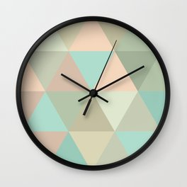 pink sand & clear waters Wall Clock