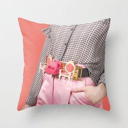 Seatbelt Throw Pillow