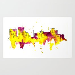 Going Downtown: Kalamazoo Art Print
