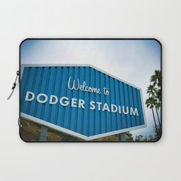 Welcome to Dodger Stadium   Los Angeles California Nostalgic Iconic Sign Art Print Tapestry Laptop Sleeve