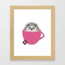 Valentine Heart Hedgehog Framed Art Print