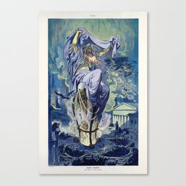 Dame Rumor - The Witch of Wall Street by Keppler 1909 Canvas Print