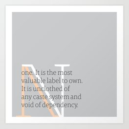 a letter to oneself : none Art Print
