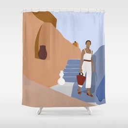 Wanderlust Women Travel Shower Curtain