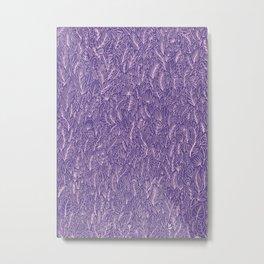 Floral Ultraviolet Metal Print