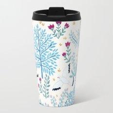 white birds garden Travel Mug