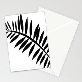 BLACK PALM LEAF Stationery Cards
