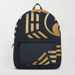 Golden Yin Yang I Ching Backpack