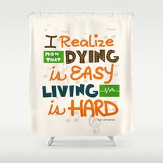 IF I STAY: I Realise Shower Curtain