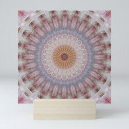 Mandala feather Mini Art Print