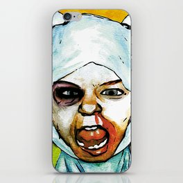 Realistic, Battle Damaged Finn  by Aaron Bir iPhone Skin