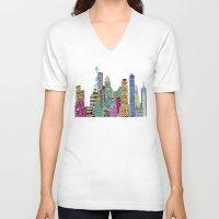 boston V-neck T-shirts featuring Boston city  by bri.buckley