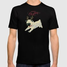 Deer Pug Mens Fitted Tee MEDIUM Black