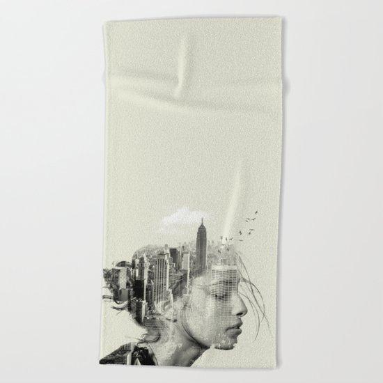 Reflection, New York City Beach Towel