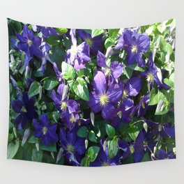 Blue Clematis Wall Tapestry
