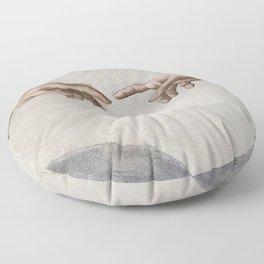 THE CREATION OF ADAM - MICHELANGELO Floor Pillow