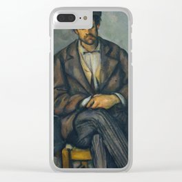 Paul Cézanne - Seated Peasant (1892–96) Clear iPhone Case