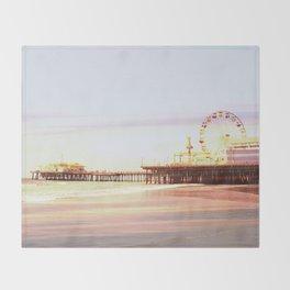 Santa Monica Pier Sunrise Throw Blanket