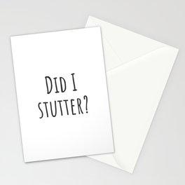 Stutter Stationery Cards