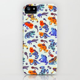 Poison dart frogs - bright iPhone Case