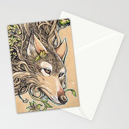 Dog of the Mountain - Honshu Wolf Stationery Cards