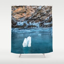 The Ice Grotto Shower Curtain