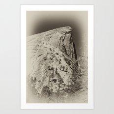 Yosemite Half Domes Backside Re-imagined Art Print