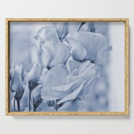 Soft blue lisianthus - Hampton Style Serving Tray
