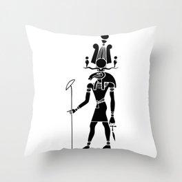 Khensu - God of ancient Egypt Throw Pillow