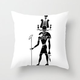 Khensu - God of ancient Egypt Throw Pillow