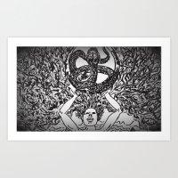 Hydra Mountain Art Print