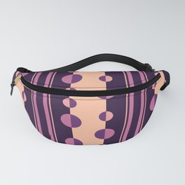 Circles and Stripes in Deep Purple and Pink Fanny Pack