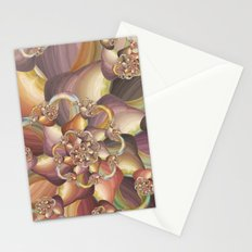 Quiescence Floral Fractal Stationery Cards