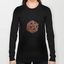 3D Fractal Icosahedron Long Sleeve T-shirt