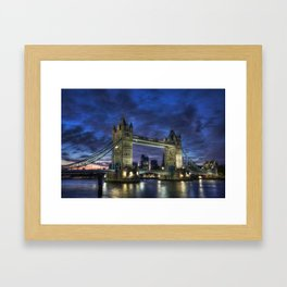 Tower Bridge Blue Hour Framed Art Print