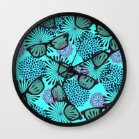 sunglasses Wall Clocks featuring Sunglasses by Mad And Zo Designs