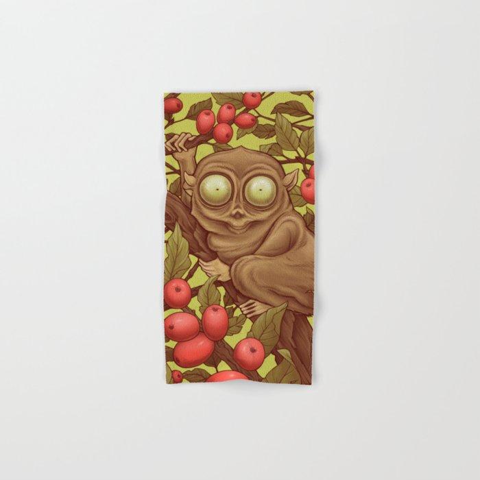 The Caffeinated Tarsier Hand & Bath Towel