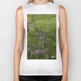 Purple Alfalfa flowers Biker Tank
