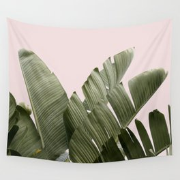'Palm on Pink' Tropical Palm Tree Photograph Wall Tapestry