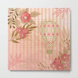 Floral Balloon Collage Metal Print