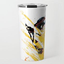 Street art yellow painting colors fashion Jacob's Paris Travel Mug