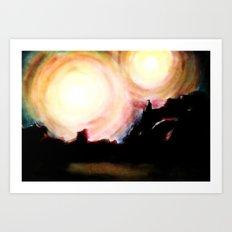 Two Suns Art Print