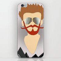 the dude iPhone & iPod Skins featuring Dude by DM Davis