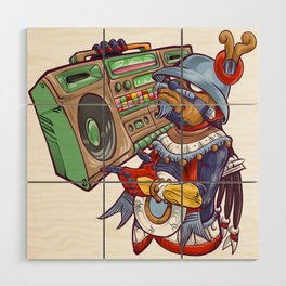 Tezcatlipoca Old School Hip Hop Wood Wall Art